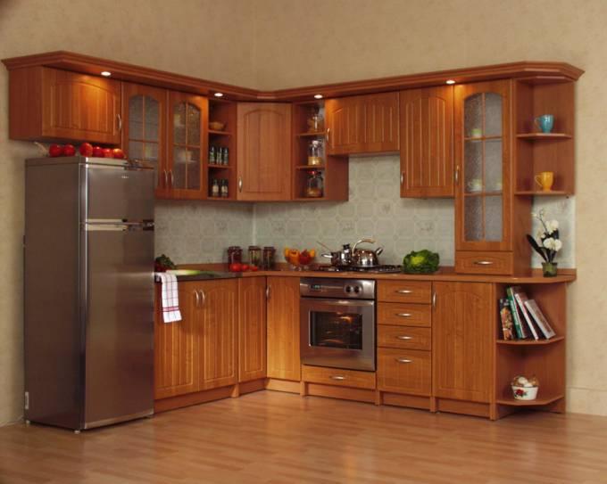 Rohová kuchyně na míru Boazerie - Olše