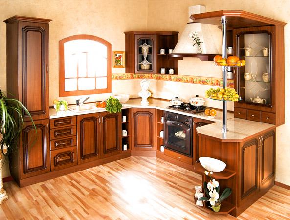 Rustikální rohová kuchyně do U Bolero