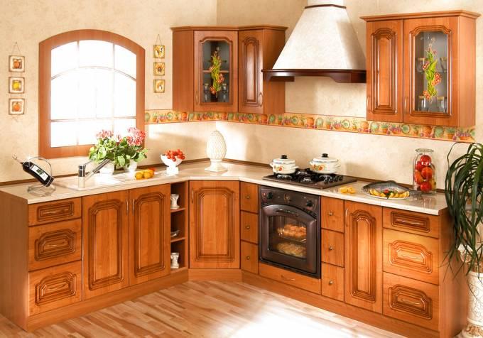 Rohová kuchyňská linka na míru Bolero - Olše