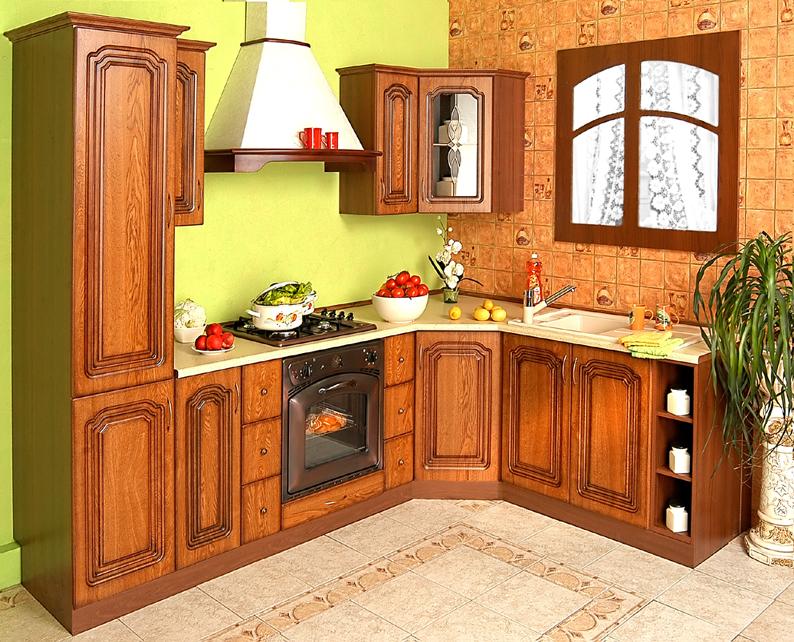 Rustikální rohová kuchyňská linka Bolero