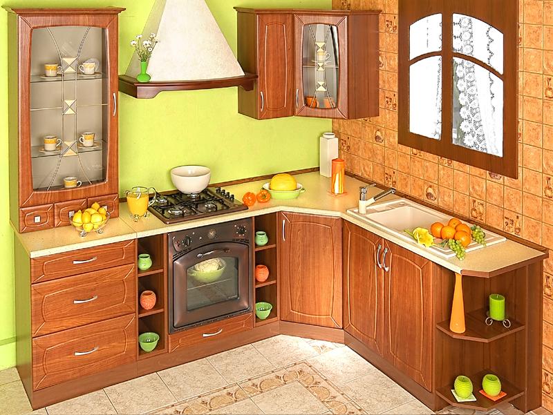 Rohová kuchyně na míru Patera - dub vinný