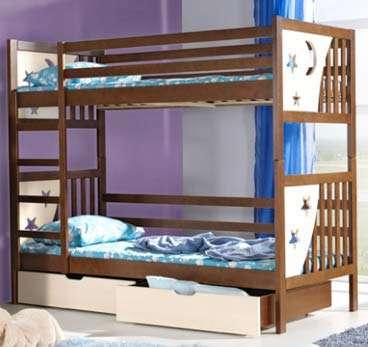 Dětská patrová postel s úložným prostorem Jacek