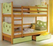Dřevěná dětská patrová postel s úložným prostorem Jarek