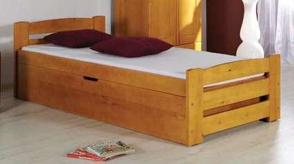 Dřevěná dětská postel s úložným prostorem Lolek