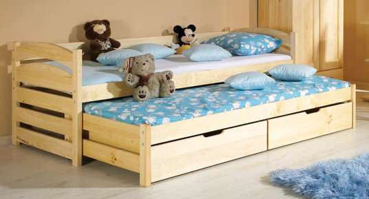 Dětská postel s přistýlkou a úložným prostorem Tolek