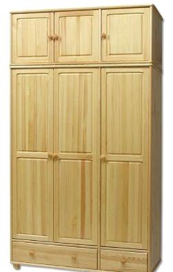 Šatní skříň SF127 masiv - borovice