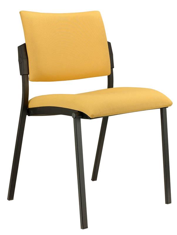 Konferenční židle Square čalouněná-černý plast