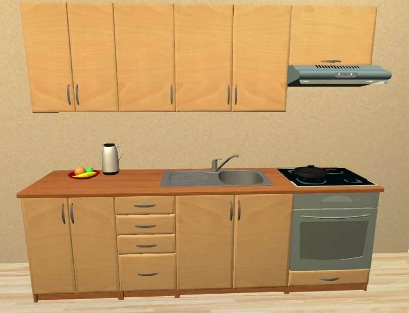 Sektorová kuchyně 240 cm vestavba