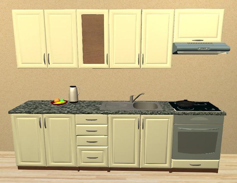 Sektorová kuchyně 260 cm vestavba