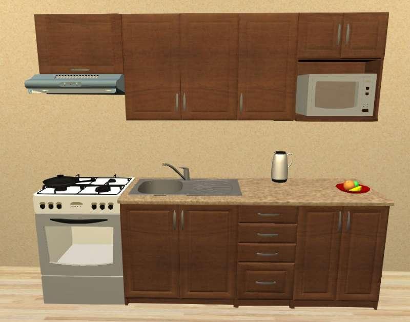 Sektorová kuchyně 240 cm mikrovlnka