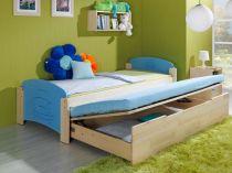 Dřevěná dětská postel s přistýlkou a úložným prostorem Jas 2 ...