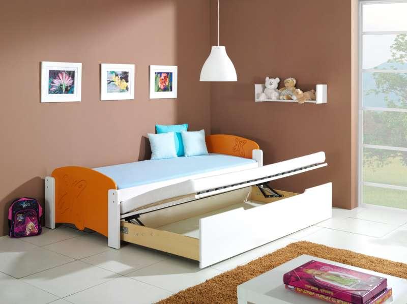 Dřevěná dětská postel s přistýlkou a úložným prostorem Malgosia 2