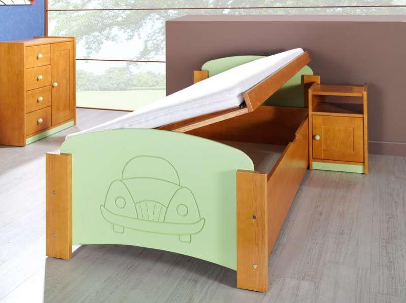 Dřevěná dětská postel s úložným prostorem Jas 1 - masiv