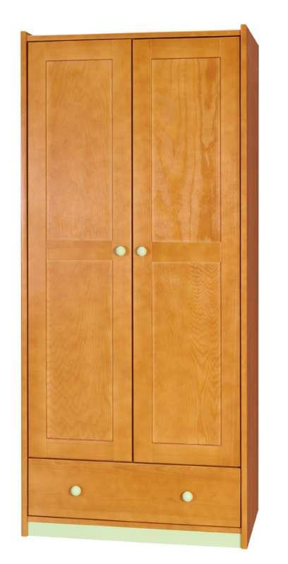 Dřevěná šatní skříň Bobina 2