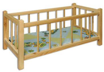 Dřevěná postýlka hračka AD265