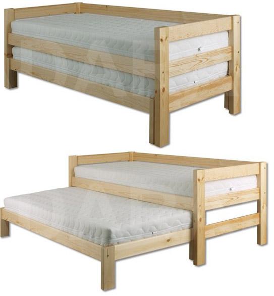 Dětská dřevěná postel s přistýlkou