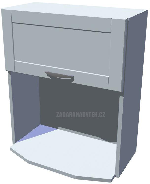 Horní skříňka na mikrovlnku, výklop