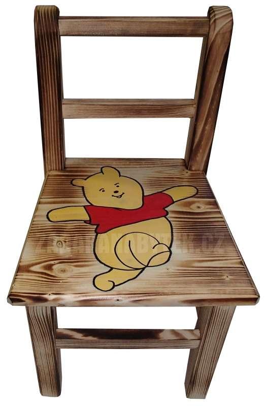 Dětská dřevěná židlička AD230