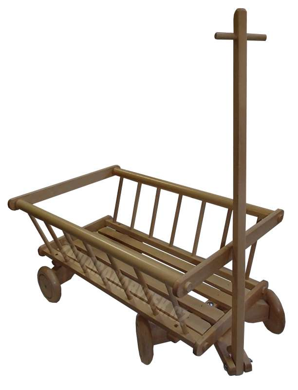 Dřevěný vozík pro děti - hračka AD261