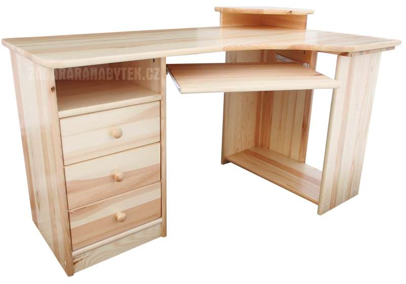 Rohový psací stůl BR105 masiv - borovice