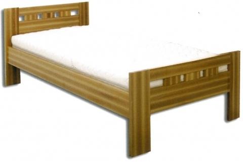 Dřevěná postel jednolůžko - buk