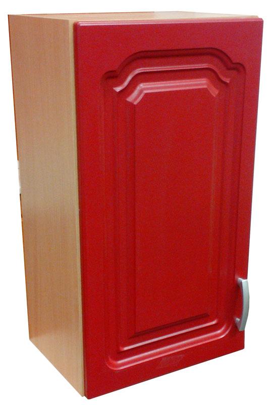Horní skříňka 40 cm M20 červená / buk - výprodej