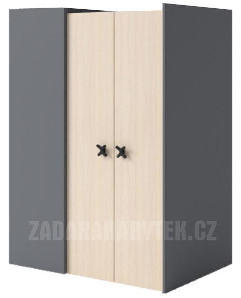 Rohová šatní skříň IKS X01