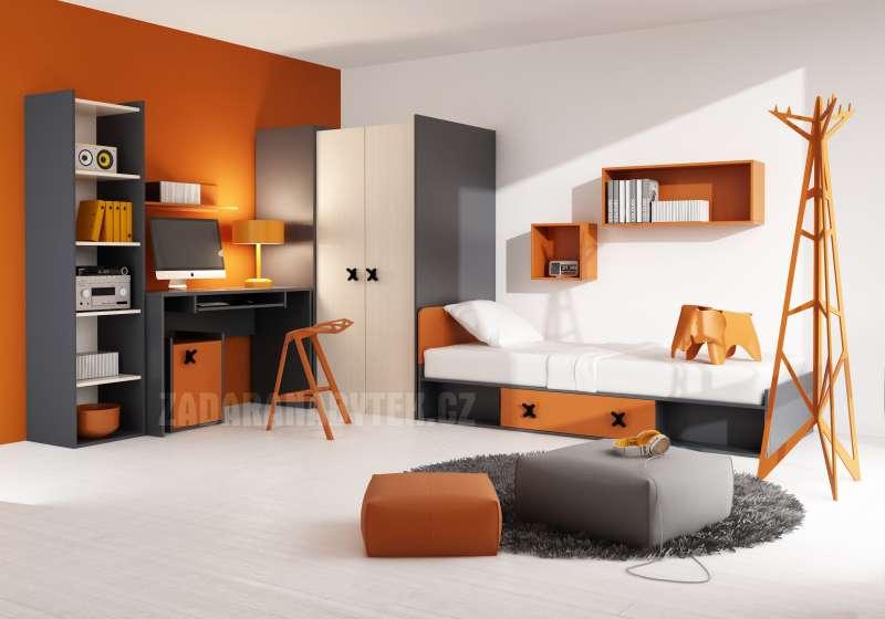 Dětský pokoj Iks oranžový