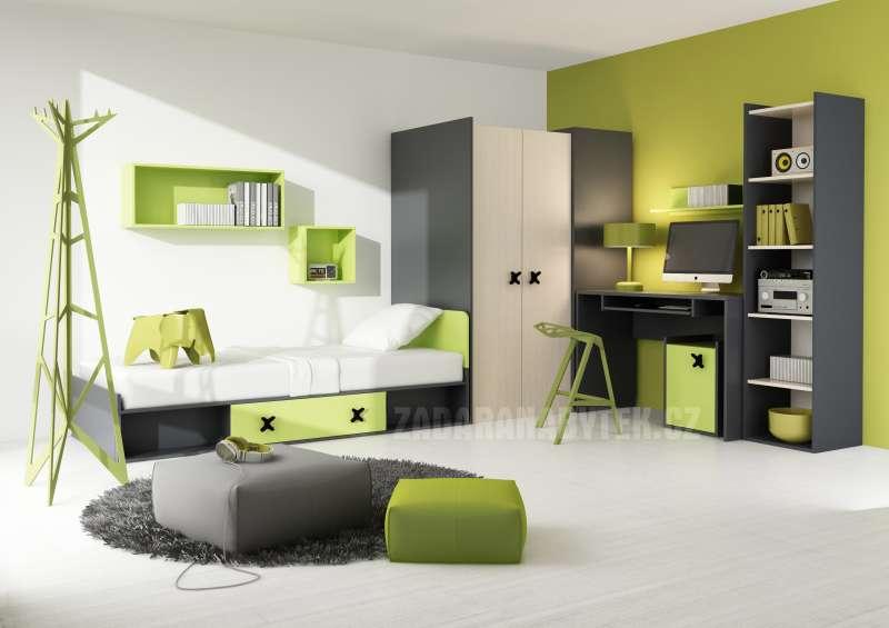 Dětský pokoj Iks zelený