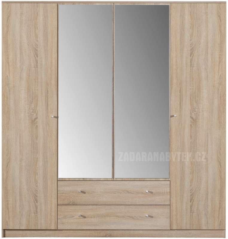 Šatní skříň Optimo OP1 se zrcadlem