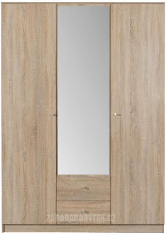 Šatní skříň Optimo OP2 se zrcadlem