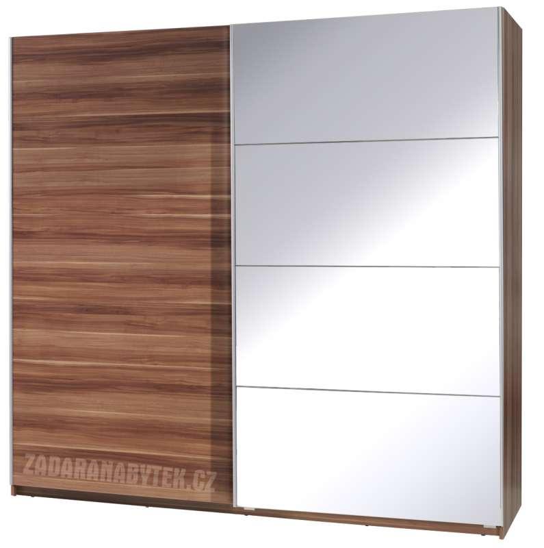 Šatní skříň se zrcadlem a posuvnými dveřmi Tento 3