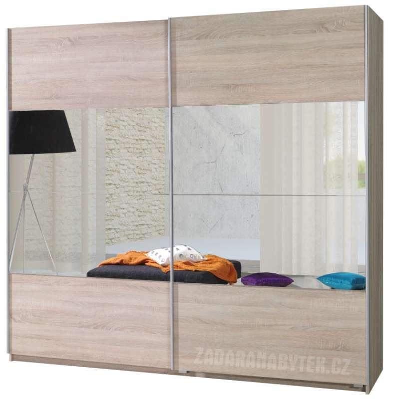 Šatní skříň se zrcadlem a posuvnými dveřmi Tento 2