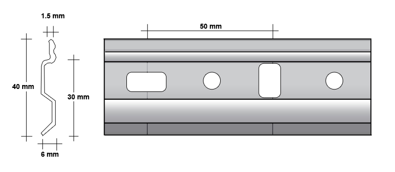 Závěsná lišta pro kuchyňské linky 1 m