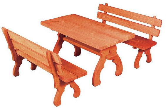 Zahradní sestava MO106 - 2 lavice, stůl