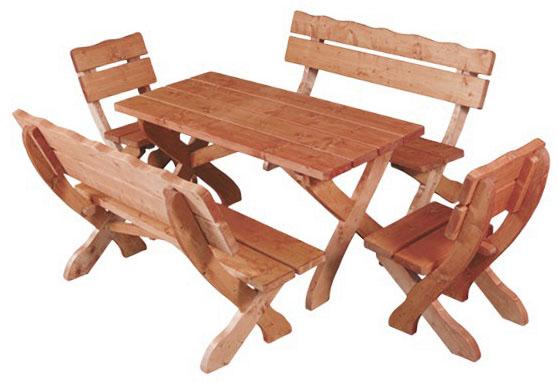 Zahradní sestava MO105 - 2 lavice, 2 židle, stůl