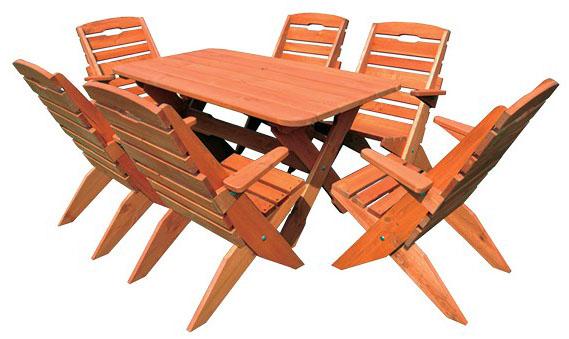 Zahradní sestava MO109 - 6 židlí, oválný stůl