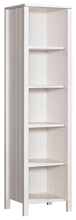 Bílý dřevěný regál - knihovna Bella 2