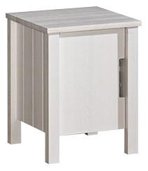 Bílý dřevěný noční stolek Bella 8