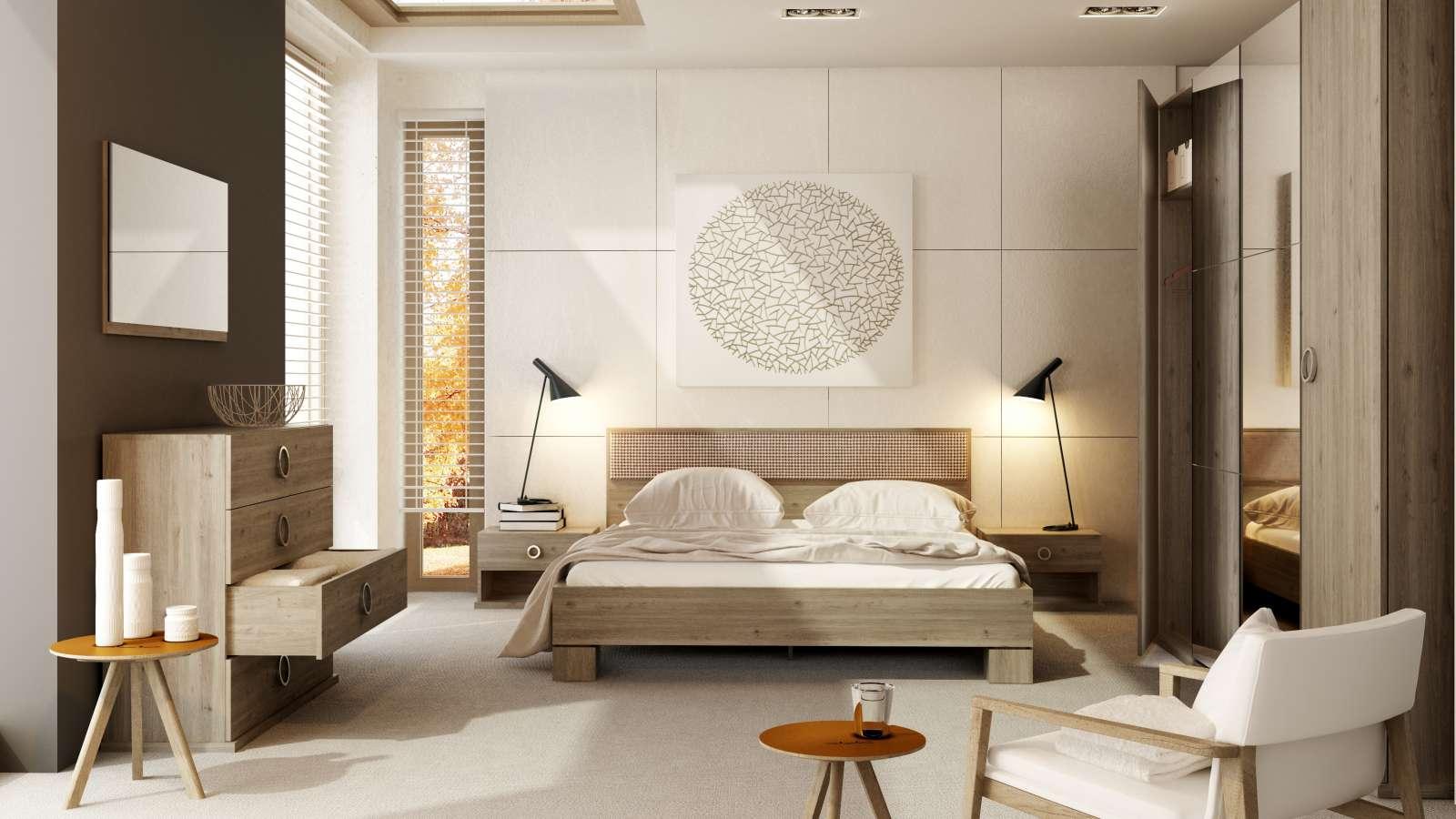 Sestava nábytku do ložnice Roma s postelí 140x200 cm