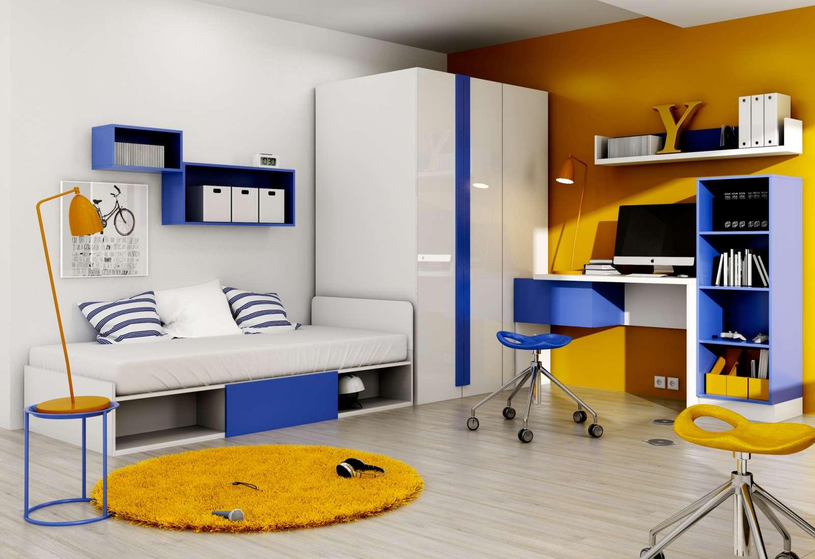 Sestava nábytku do dětského /studenstkého pokoje Yeti Y1