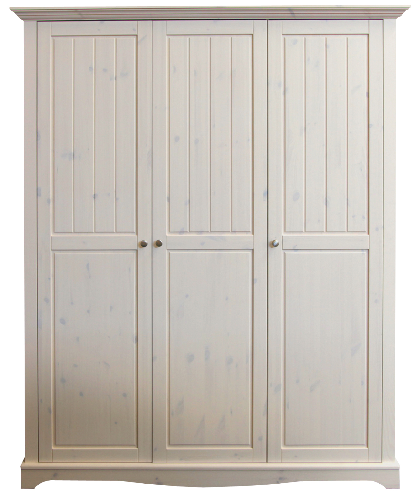 Trojdvéřová šatní skříň z masivní borovice Lotta 102