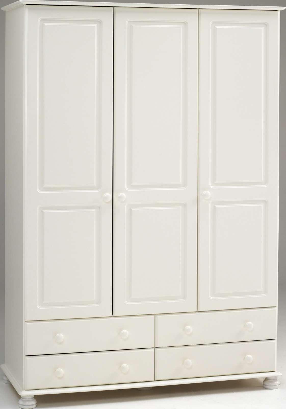 Bílá šatní Skříň Do Ložnice Se čtyřmi šuplíky Richmond
