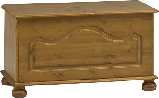 Dřevěná truhla na lůžkoviny Richmond 380 - přírodní lak