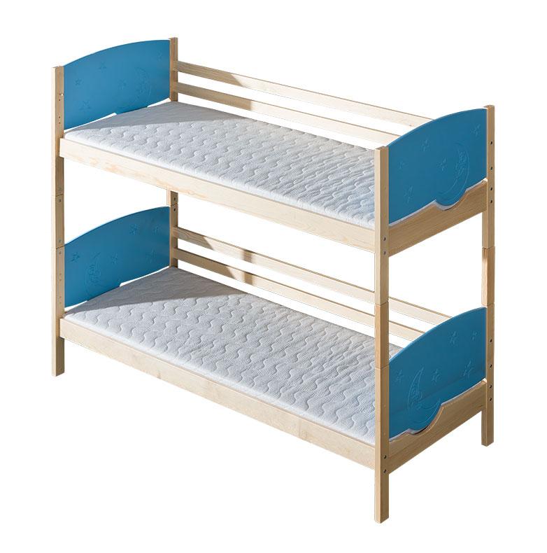 Dřevěná dětská postel patrová Trio 2