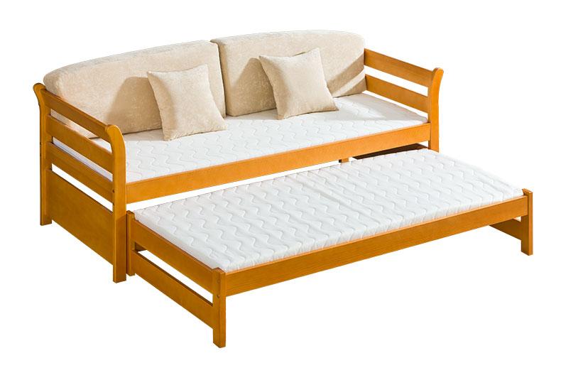 Dřevěná dětská postel s přistýlkou Tytus