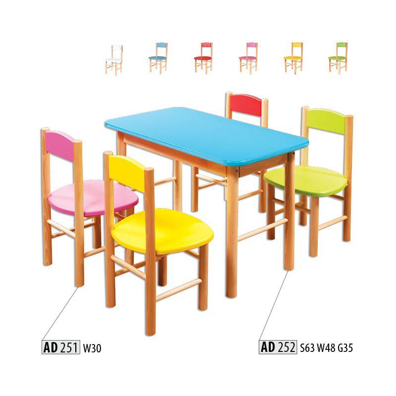 Dřevěná židlička AD251