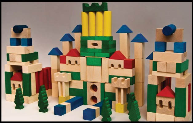 Dřevěné kostky AD407 180 ks