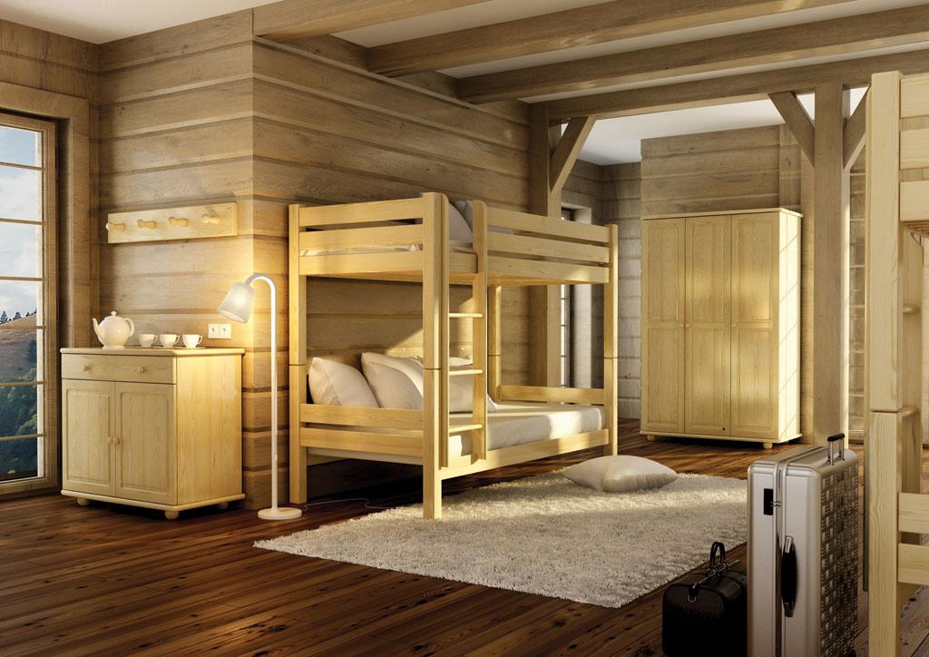 Dětský pokoj/ložnice z masivu - borovice