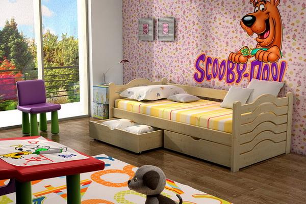 Dětská dřevěná postel VL 04